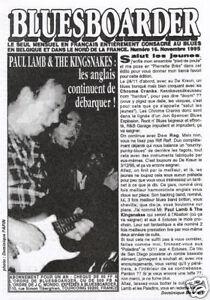 fanzine BLUES BOARDER Brian Knight Paul Lamb Kingsnakes - France - BLUES BOARDER n16 de nov.1995 fanzine BLUES bien documenté ! 8 pages agrafées, en noir & blanc format 15x21 Brian Knight, Paul Lamb & the Kingsnakes, Benoit Blue Boy, Peter Green... état : comme NEUF ! - France