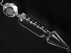 4 pampilles mm 86 en cristal fleche p reparer lustre - Lustre pampilles cristal ...