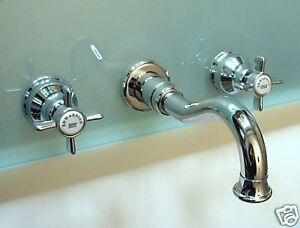 Unterputz Wand Nostalgie Armatur für Küche u. Waschbecken , Silber ...