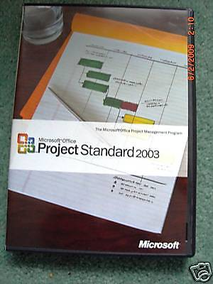 Microsoft Office Project Standard 2003  Full Retail Version  Sku 076 02627