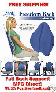 Freedom-Back-Cushion-Ergonomic-Foam-Chair-Pad-Supports-Lumbar-Full-Back-Massage
