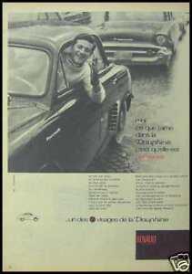 PUBLICITE RENAULT DAUPHINE 1959 AD (7b) - France - État : Bon état: Livre ayant déj été lu, mais qui est toujours en bon état. La couverture présente des dommages mineurs, comme des éraflures, mais n'est ni trouée ni déchirée. Pour les couvertures rigides, la jaquette n'est pas nécess - France