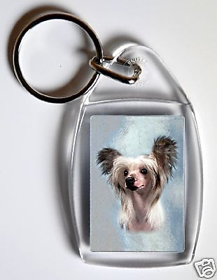 Chinese Crested Key Ring By Starprint - No 2
