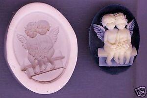 40x30mm-Cameo-Angel-Baby-039-s-Polymer-Clay-Push-Mold
