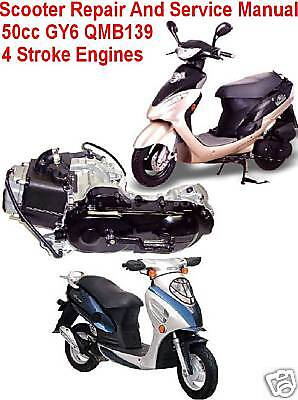 scooter repair service manual 50cc gy6 chinese others ebay. Black Bedroom Furniture Sets. Home Design Ideas