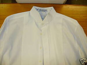 Formal shirt white pique wing tip collar used ebay for Wing tip collar shirt