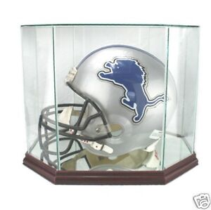 F-S-Glass-Football-Helmet-Display-Case-New-UV-NFL-NCAA