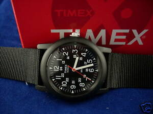 NEW-TIMEX-MENS-BLACK-MILITARY-STYLE-24-HOUR-WATCH