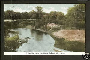 LaPorte-City-Iowa-IA-1911-Big-Creek-Bend-amp-Beach