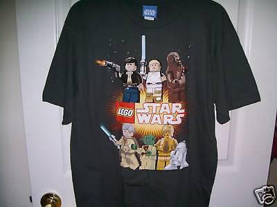 Lego Star Wars Charcoal Gray Short Sleeve Shirt Boys Size 18 - 20 102