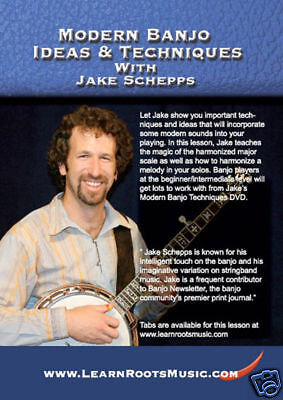 MODERN BANJO IDEAS & TECHNIQUES JAKE SCHEPPS NEW DVD