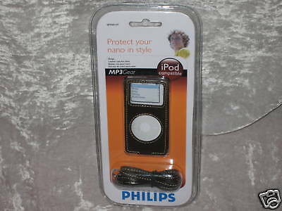 Philips Leather Case Ipod Nano Music Travel Protect Mp3