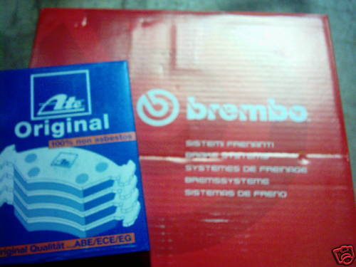 BREMBO Brake Discs and ATE brake pads FORD Focus I Lim. and Estate rear