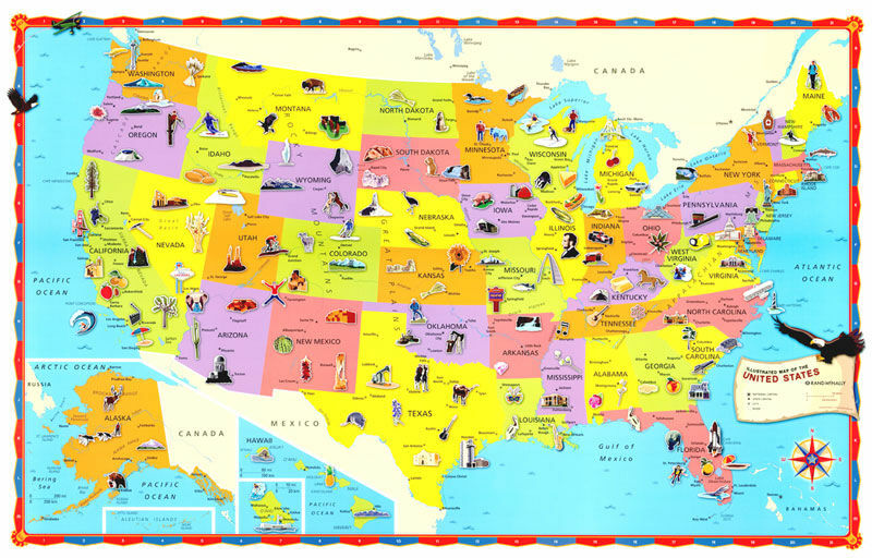 X Hammond World United StatesUSUSA Wall Map EBay - Us and usa map