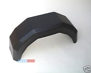 A pair of 13 inch plastic trailer mudguards
