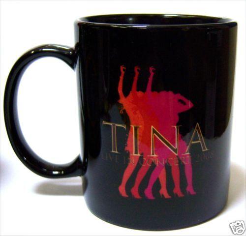 Tina Turner Live In Concert 2008 Black Coffee Mug Cup New