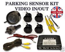 Parking Reversing 4 Sensors Video In & Out Buzzer Alarm