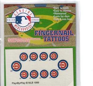 Chicago-Cubs-Baseball-Fingernail-Tattoos-Set-NEW-Sealed