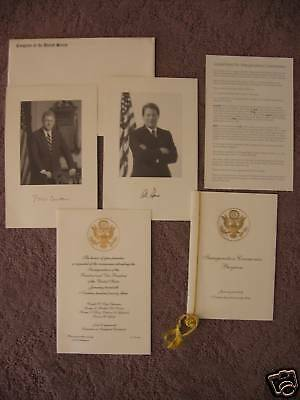 President Bill Clinton Congressional Inaugural Invitation Set