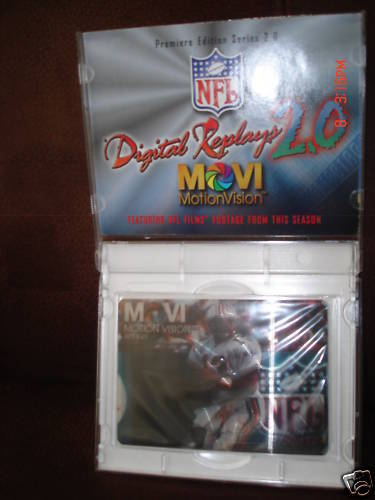 DAN MARINO 1996 MOTION VISION 3-D CARD OF DAN MARINO  IN CASE-MIAMI DOLPHINS QB