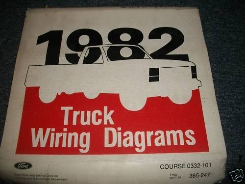 1982 Ford Courier Oem Wiring Diagrams Manual Set