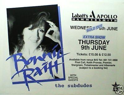 BONNIE RAITT 1994 LONDON, U.K. CONCERT TOUR POSTER