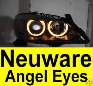 Angel Eyes Scheinwerfer Klarglas Opel Astra G H7 Xenon Look