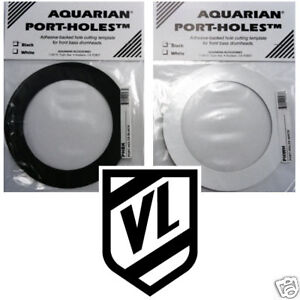 aquarian port hole mic hole ring 5 bass drum head b w new. Black Bedroom Furniture Sets. Home Design Ideas