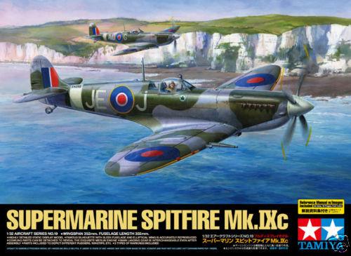 60319-Tamiya-1-32-WWII-Supermarine-SPITFIRE-Mk-IXc-Fighter-Plastic-Model-Kit
