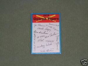 1973-O-PEE-CHEE-TEAM-CHECKLIST-CARD-Detroit-Tigers