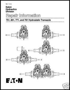 Eaton 851 Transaxle Manual
