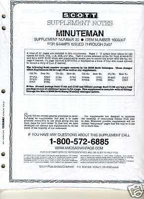 2008 Scott Minuteman U.s. Album Supplement