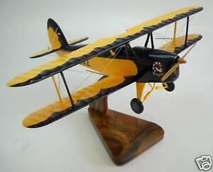 Platzer-Kiebitz-B-Biplane-Airplane-Wood-Model-Big