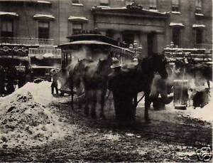 ALFRED-STIEGLITZ-PHOTOGRAPH-Collotype-Photogravure-CAR-HORSES-New-York-1892