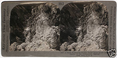 Keystone Stereoview Grand Canyon Of The Yellowstone  Ynp  Wy From Education Set