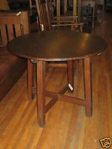 Charles-Limbert-Round-Dining-Table-36-Oak-Signed-Mission-Arts-Crafts