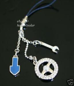 NEW-Authentic-SWAROVSKI-Edison-CAR-Cell-Phone-CHARM-933621