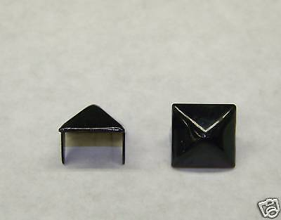"100 Matte Black stud 1/2"" Pyramid/Square 12 mm Spike spot Nailhead Tacks USA DIY"