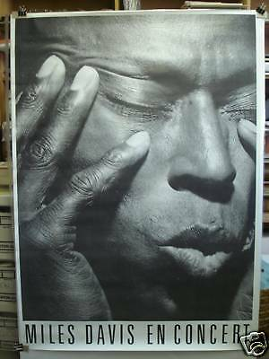 "MILES DAVIS EN CONCERT large promo poster 39x55"""