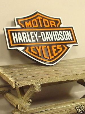 Harley-davidson Sign Miniature 1/24 Scale Scale Diorama Accessory Item