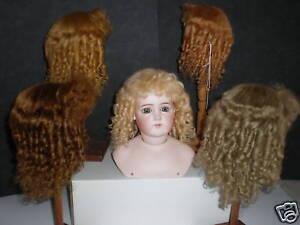 Perruque En Mohair Pour Poupee -doll Wig -t10 (33 Cm) Fabriquée France