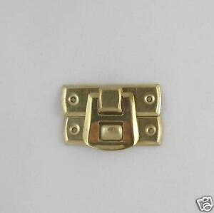 Jewellery Box Case Catch Clip Plain Brassed (size L)