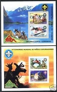 Nicaragua 989-994 C880-C883 + 2s/s MNH Boy Scouts s4742