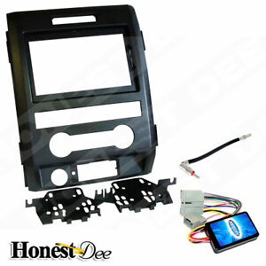 Aftermarket-Double-Din-Radio-Mount-w-Wires-Car-Stereo-Install-Dash-Kit-for-F-150