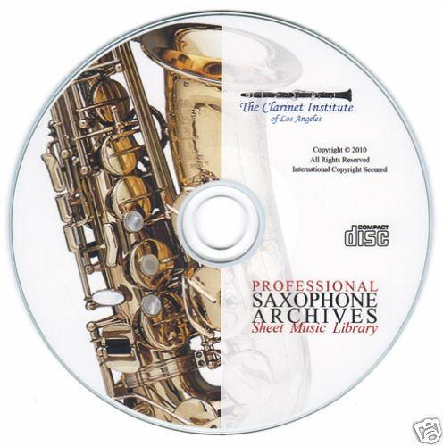 Professional Saxophone Sheet Music Collection