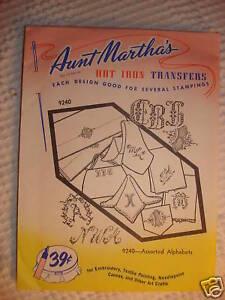 Vintage-AUNT-MARTHAS-TRANSFER-Assorted-Alphabets-9240