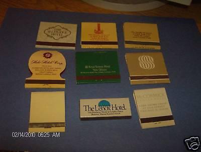 9-Assorted-Hotel-Lenox-McCormick-Sonesta-Matchbooks