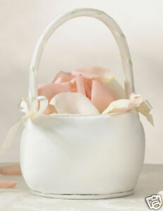 Ivory-or-White-Round-Flower-Girl-Basket