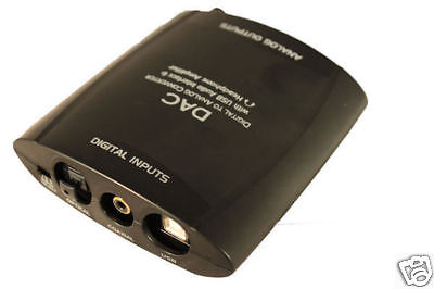 Digital Audio To Analog Stereo Audio Converter Usb & Hp