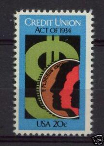 USA-1984-SG-2072-Credit-Union-Act-MNH